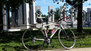 My bike at the World War II Memorial