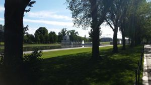 World War II Memorial through the Reflecting Pool